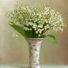 Ландыши  в вазочке
