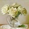 Пять белых роз