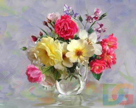 Розы и душистый горошек